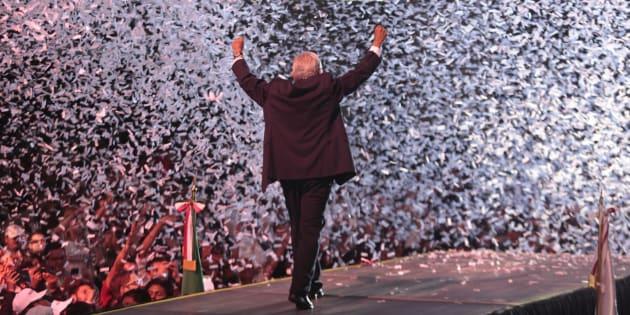 Andrés Manuel López Obrador (AMLO) après les élections.