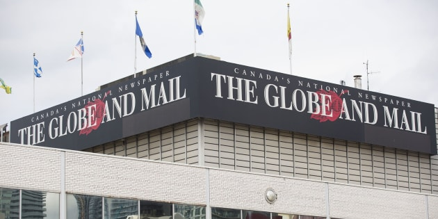 The Globe and Mail office in Toronto is shown on July 9, 2014.
