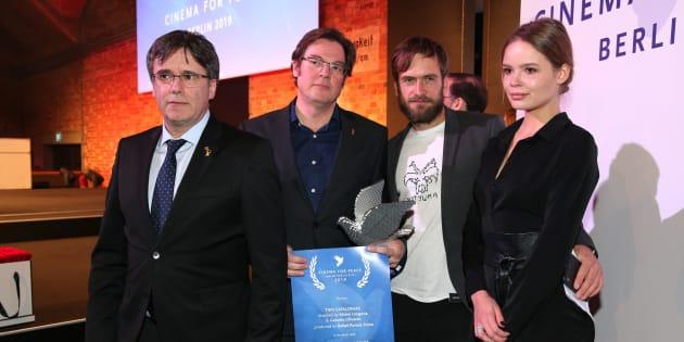 Entrega del premio en Berlín