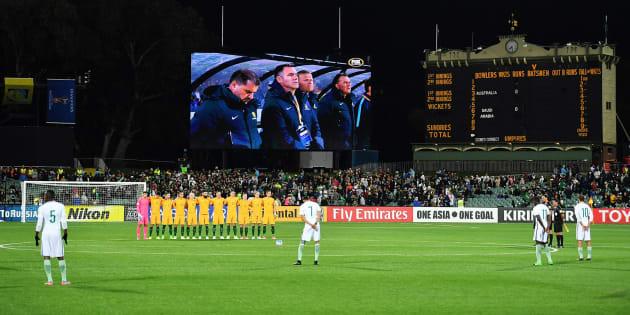 Resultado de imagen de La selección de Arabia Saudí no respetó el minuto de silencio por las víctimas de Londres