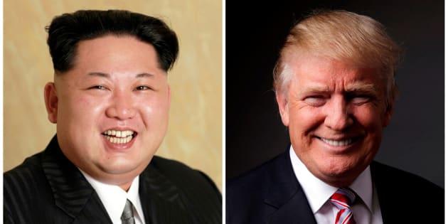 Imágenes de archivo de Kim Jong Un y Donald Trump.