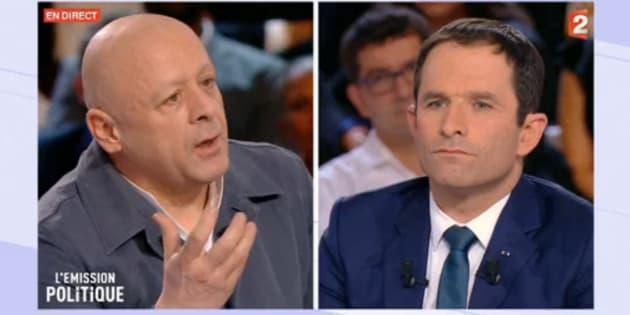 Benoît Hamon, invité de l'Emission politique, face au chef Thierry Marx, jeudi 9 mars, sur France 2.