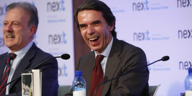 El expresidente del gobierno Jose María Aznar, este martes.
