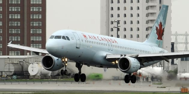 An Air Canada Airbus A320 lands on a runway at Pearson International Airport in Toronto in 2010.