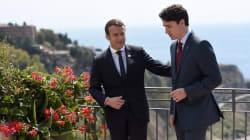 Estas fotos de Macron y Trudeau en el G7 están inspirando las historias de amor más