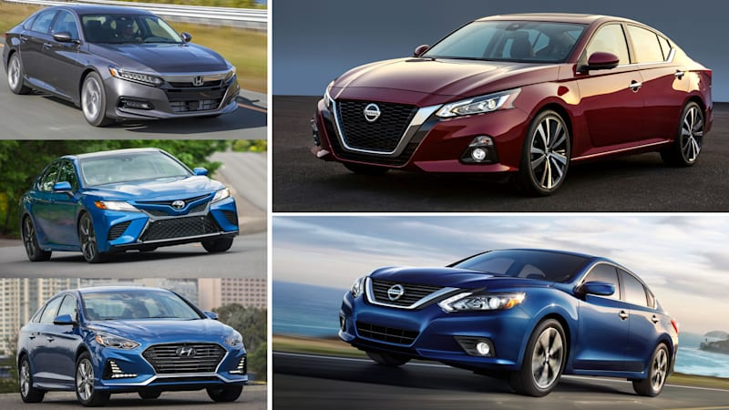 2019 Nissan Altima Vs Honda Accord Toyota Camry How It Compares On Paper