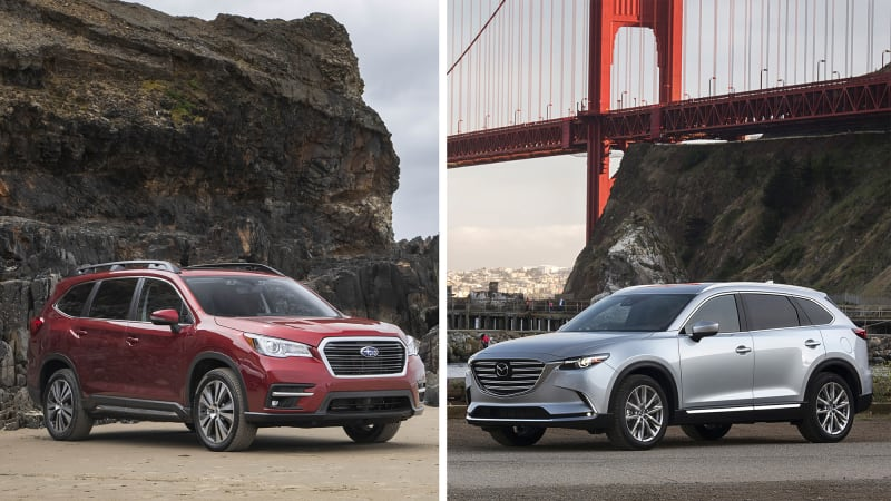 Subaru Ascent Versus Mazda Cx 9 Crossover Comparison Autoblog