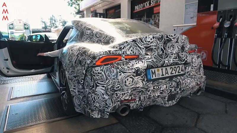 Toyota Supra captured on video testing at the 'Ring