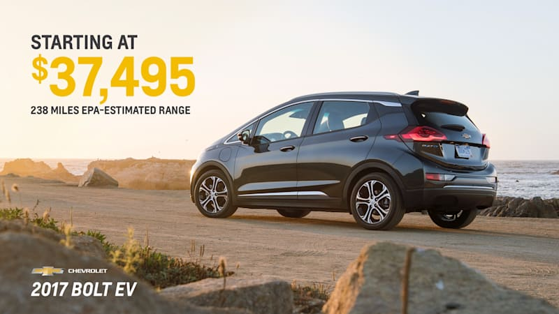 2017 Chevy Bolt EV will cost you $37,495