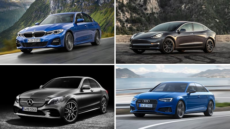 2019 Bmw 3 Series Vs Tesla Model 3 Audi A4 Mercedes C Class