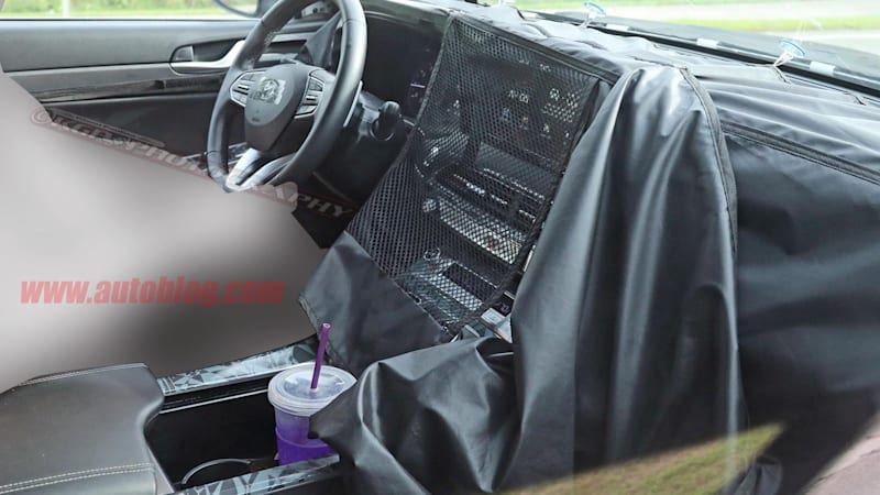 Hyundai Palisade three-row crossover interior spied for the
