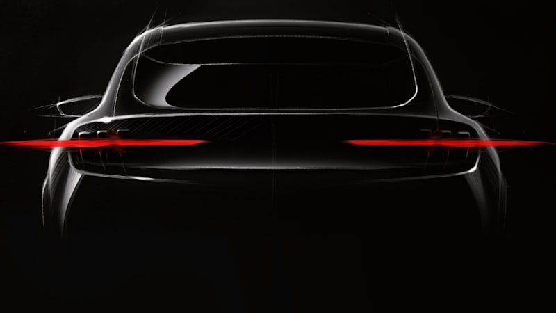 2020 Ford Mach 1 Ev Teased In Drawing Autoblog