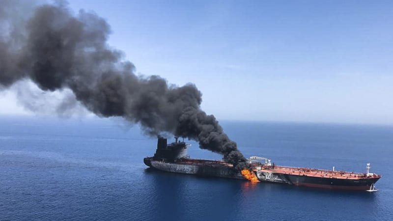 Image result for Oil tanker passing through the Strait of Hormuz