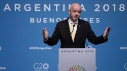 Presidente de la FIFA comenta de la Copa Libertadores en Madrid y no le fue nada