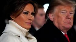 ¿Por qué llora Melania Trump frente a Donald y el árbol de