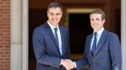Pedro Sánchez y Pablo Casado, juntos en La
