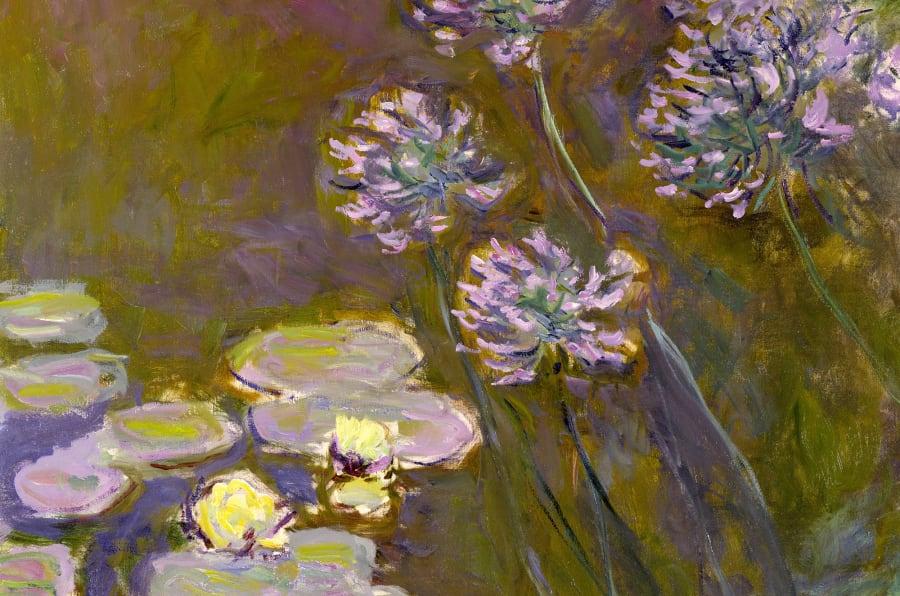 Claude Monet (1840-1926), Ninfee e Agapanti 1914-1917, Olio su tela 140x 120 - Parigi, Museée Marmottan Monet