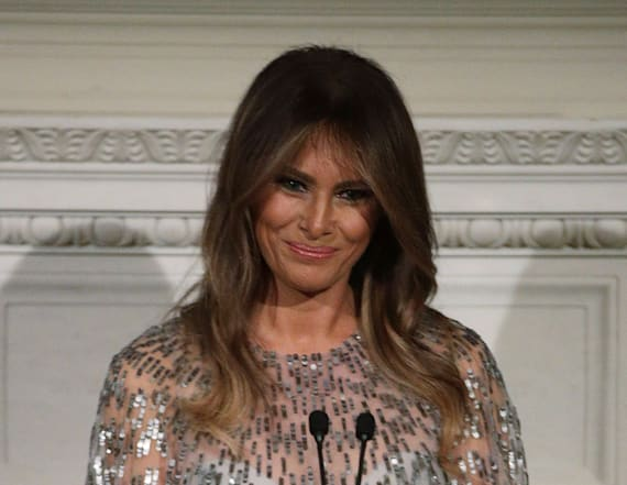 Melania Trump takes style risk in Monique Lhullier