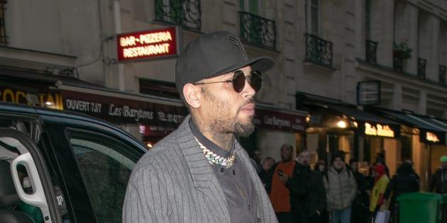 Rapper Chris Brown is seen on Jan. 17, 2019 in Paris.