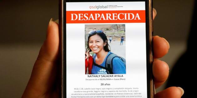 Imagen de Nathaly Salazar, la joven española desaparecida desde el pasado 1 de enero en Perú.