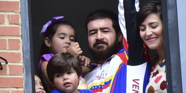 El exalcalde de San Cristóbal, Daniel Ceballos, cuando fue liberado anteriormente, en agosto de 2015.
