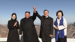 Les dirigeants des deux Corées s'affichent sur un lieu mythique pour leurs deux