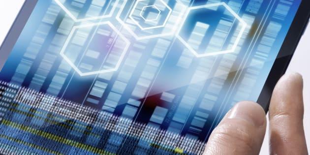 Genetic analysis, conceptual image.