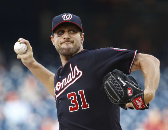 Max Scherzer posts impressive game with broken nose