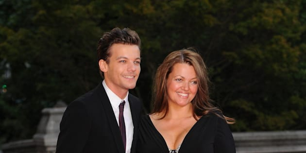 Louis Tomlinson with his mum Johannah Deakin