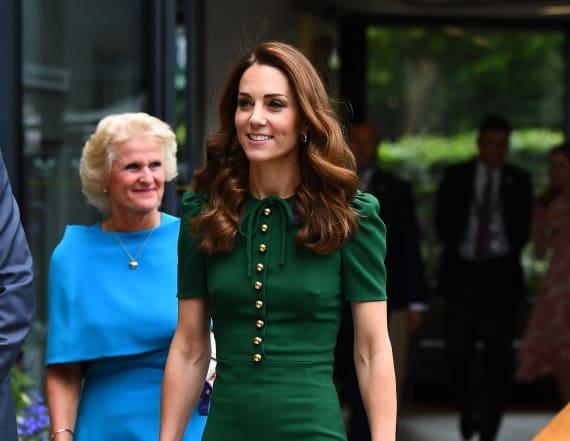 Kate Middleton stuns in green Dolce & Gabbana