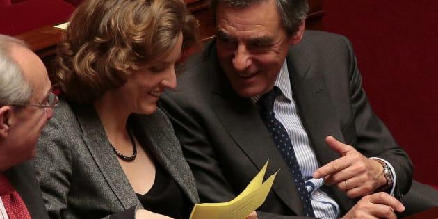 Les députés Nathalie Kosciusko-Morizet et François Fillon durant une séance de questions au gouvernement, le 15 mars 2016 à l'Assemblée nationale à Paris.