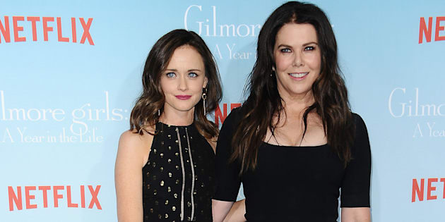 Actresses Alexis Bledel and Lauren Graham attend the premiere of 'Gilmore Girls: A Year in the Life' at Regency Bruin Theatre on Nov. 18, 2016 in Los Angeles.