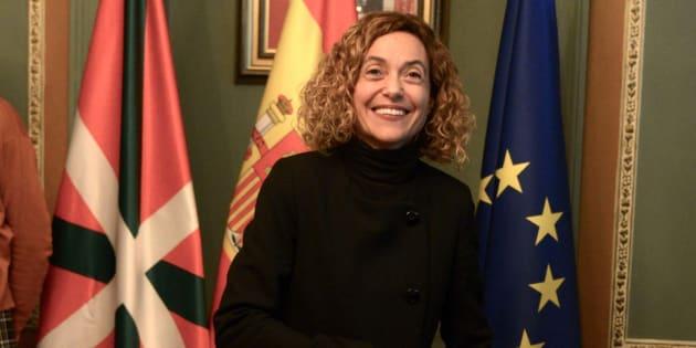 La ministra de Política Territorial y Función Pública, Meritxell Batet, en un acto en Bilbao.