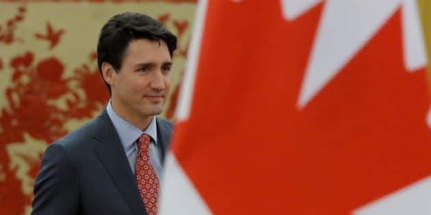 Justin Trudeau, lors de sa visite en Chine, le 4 décembre dernier.