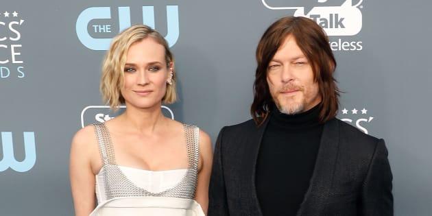 """Diane Kruger et Norman Reedus de """"The Walking Dead"""" attendent leur premier enfant."""