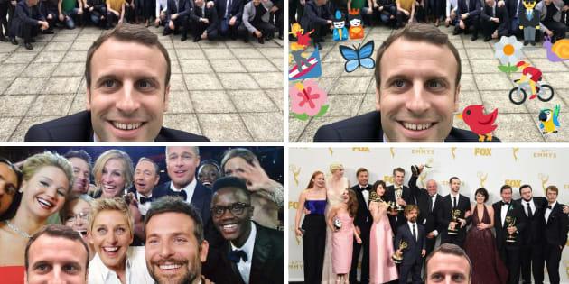 Le selfie de Macron vaut le détour(nement).