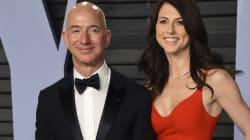 Jeff Bezos y su esposa MacKenzie Bezos anuncian su
