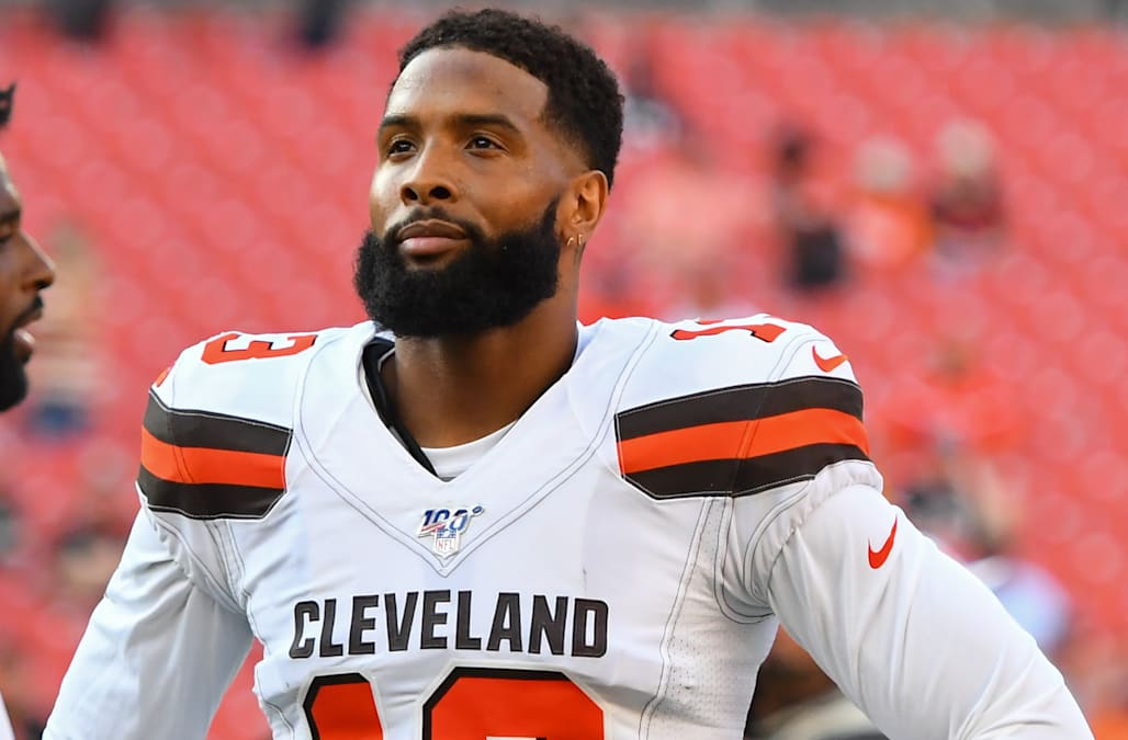 buy online d26a3 5dc87 Odell Beckham Jr. misses Browns practice with reported 'hip ...