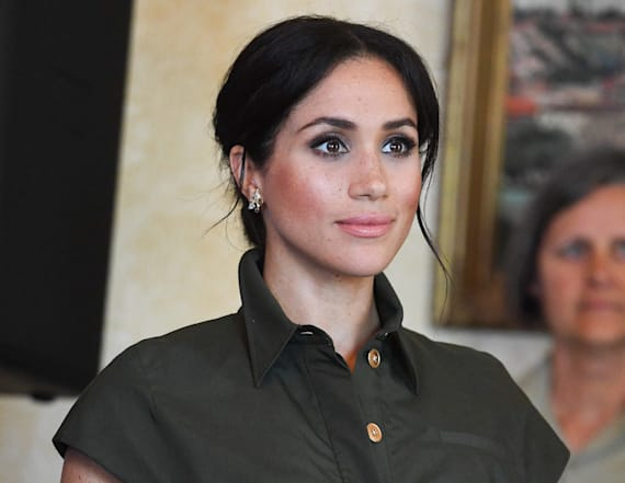 Meghan Markle dazzles in green Brandon Maxwell