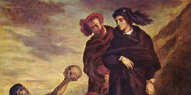Hamlet et Horatio au cimetière, Eugène Delacroix, 1839