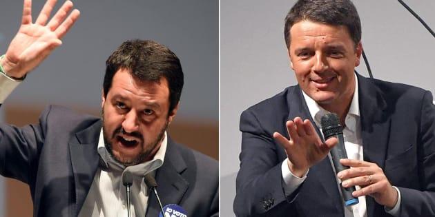 """""""Contro di me i rosiconi"""". Salvini come Renzi che"""