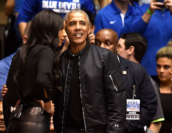 Camera catches Obama's reaction to Zion's injury