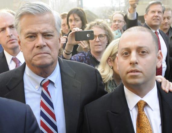 Disgraced politician, son found guilty in retrial