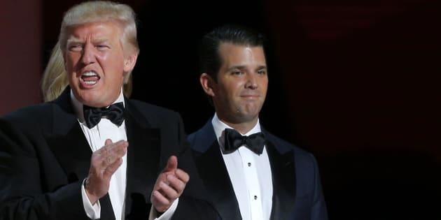 """Le fils de Trump écarte toute accusation de conflit d'intérêt en assurant qu'il a """"zéro contact"""" avec son père"""