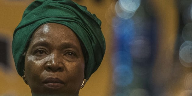 Nkosazana Dlamini Zuma during the announcement of new party leadership at the 5th African National Congress (ANC) national conference at the Nasrec Expo Centre on December 18, 2017 in Soweto, South Africa.