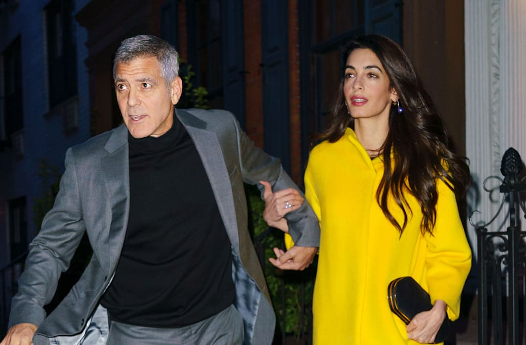 George And Amal Clooney Step Out For Stylish Date Night In New York City