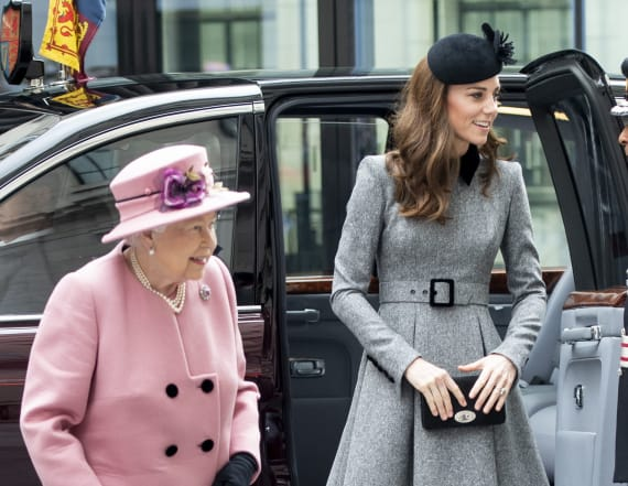 Duchess Kate and the queen step out together