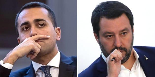 Matteo Salvini e Luigi Di Maio (S)