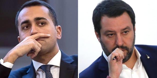La combo, realizzata con due immagini di archivio, mostra Matteo Salvini e Luigi Di Maio (S). ANSA