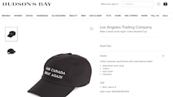 Hudson's Bay Removes 'Make Canada Great Again' Hat Amid
